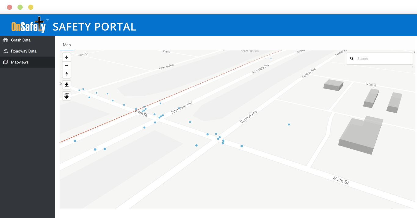 ITIS OnSafety Safety Portal Mapviews 3D crash concentrations