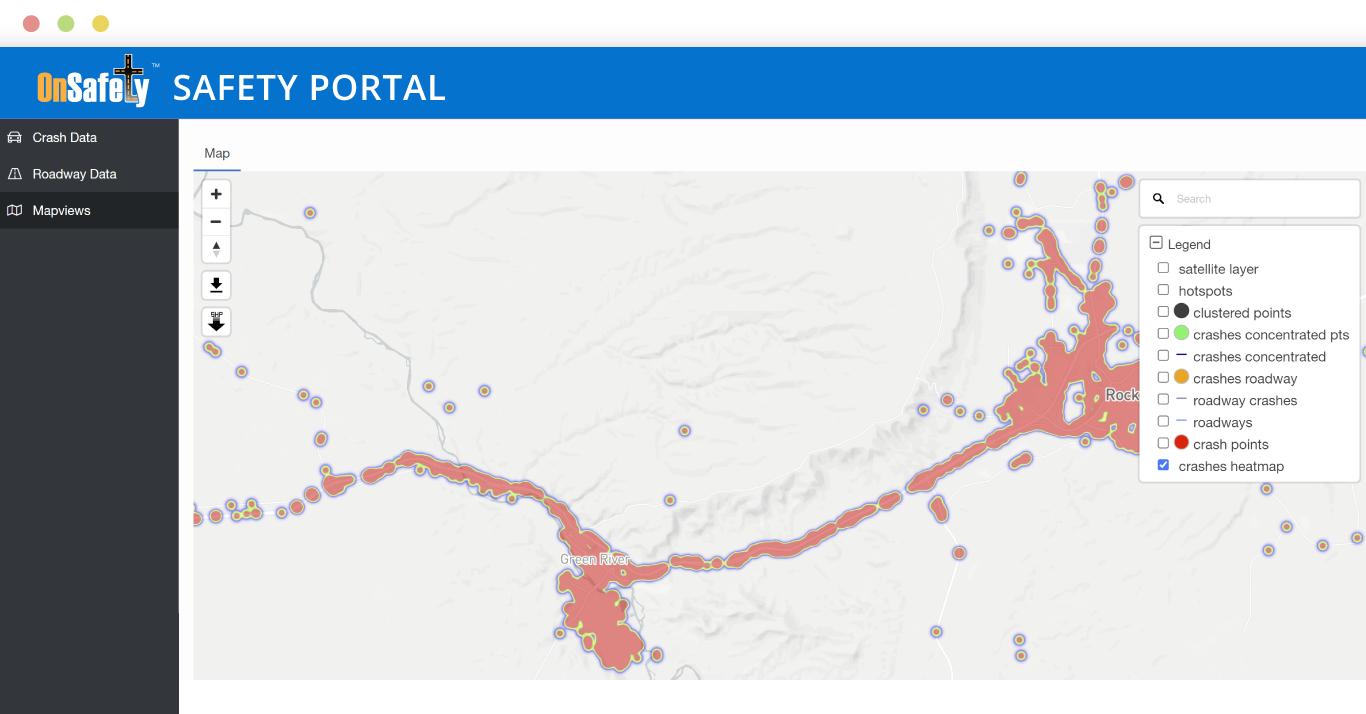 ITIS OnSafety Safety Portal Mapviews Hotspot analysis