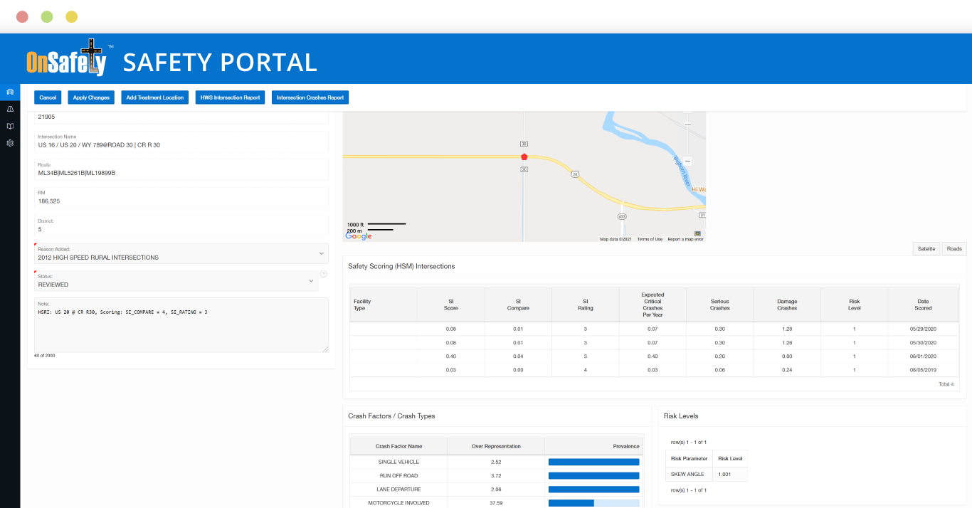 OnSafety Safety Treatment Manager Screenshot