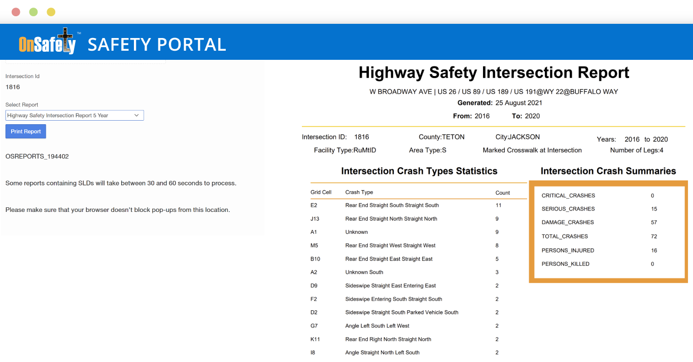 ITIS OnSafety Safety Portal Reports App screenshot